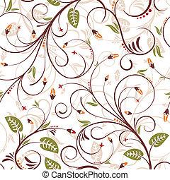 patrón, flor, seamless