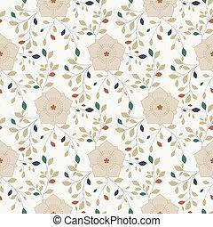 patrón, flor, seamless, colorido