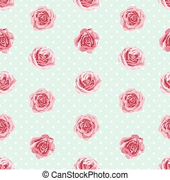 patrón, flor, seamless, rosas