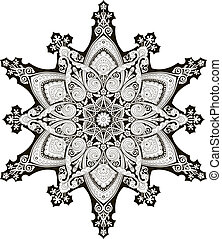 patrón floral, árabe, motivo