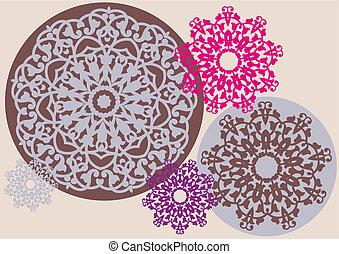 patrón floral, caleidoscópico