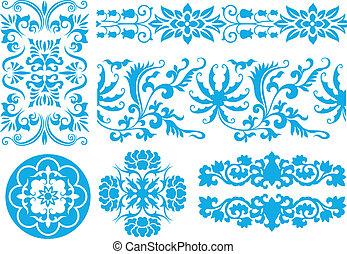 patrón floral, clásico
