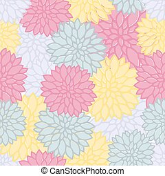 patrón floral, colorido, seamless, plano de fondo