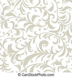 patrón floral, diseño, seamless, su