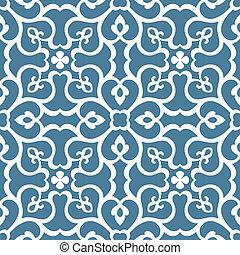 patrón floral, embaldosado, seamless