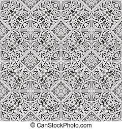 patrón floral, embaldosado, seamless, papel pintado