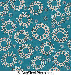 patrón floral, flores, seamless