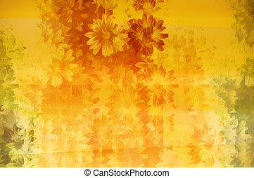 patrón floral, grunge