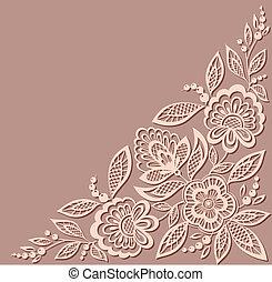 patrón, floral, hermoso, viejo, elemento, diseño, style.
