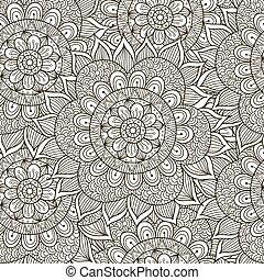 patrón floral, ornamento, seamless