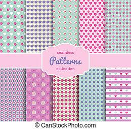 patrón floral, papel, colección, para, scrapbooking