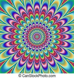 patrón floral, psicópata, generar, textura