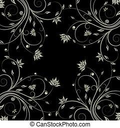 patrón floral, rúbrica