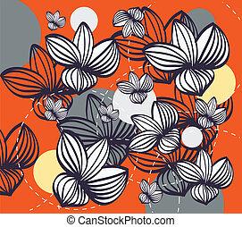 patrón floral, resumen, seamless