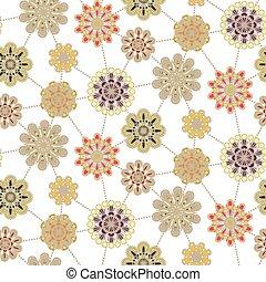 patrón floral, retro, plano de fondo, seamless