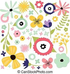 patrón, floral, seamless