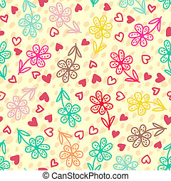 patrón floral, seamless, colorido