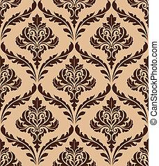 patrón floral, seamless, damasco