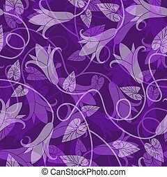 patrón floral, seamless, violeta