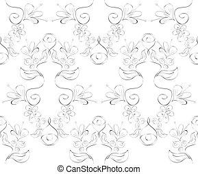 patrón floral, vector, seamless