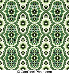 patrón floral, verde, seamless