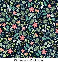 patrón floral, wintery