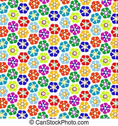 patrón, flores, extraño