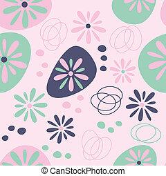 patrón, flores,  seamless