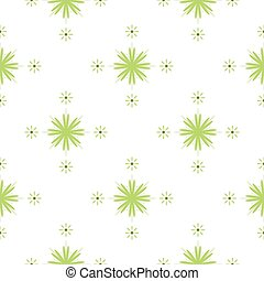 patrón, flores, verde, seamless