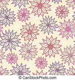 patrón, flowers., gráfico, seamless