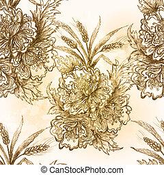 patrón, flowers., vector, eps10, seamless