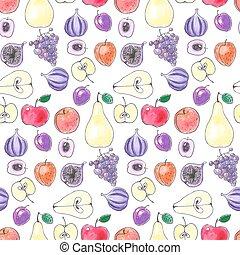 patrón, fruta