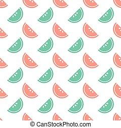 patrón, fruta, colorido, seamless, plano de fondo