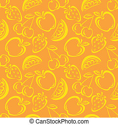 patrón, fruta, seamless