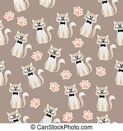 patrón, gatos, lindo
