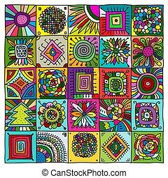 patrón geométrico, diseño, su, resumen