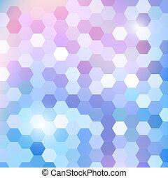 patrón, geométrico, hexágono, brillar