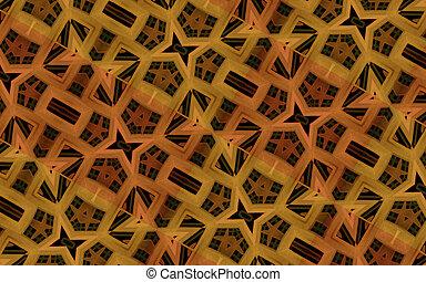 patrón, geométrico, lujo, digital