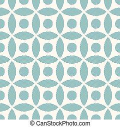 patrón, geométrico, malla, seamless