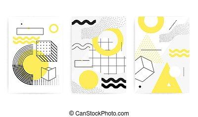 patrón geométrico, neo, memphis, colorido, tendencia