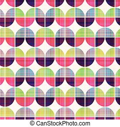 patrón, geométrico, seamless, circular
