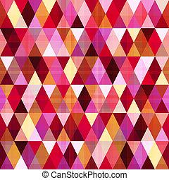 patrón, geométrico, triángulo, seamless