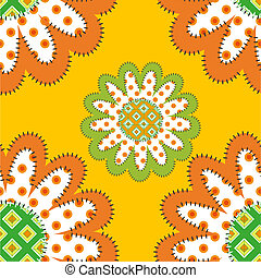patrón, girasoles