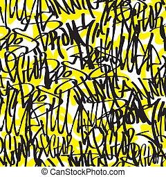 patrón, grafiti, seamless