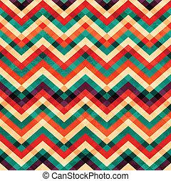 patrón, grunge, seamless, zigzag, efecto