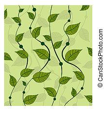 patrón, guisantes verdes, vides