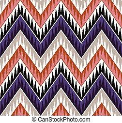patrón, horizontal, seamless, onda