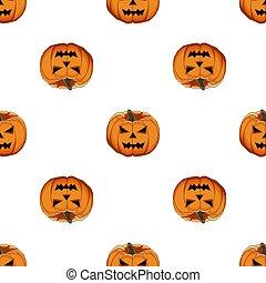 patrón, ilustración, grande, coloreado, halloween, tema