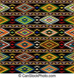 patrón, indio americano, seamless