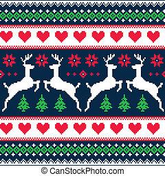 patrón, invierno, navidad, seamless